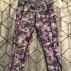 Lululemon High Waisted Leggings Size 8